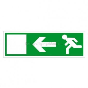 Noodverlichting pictogram symbool Pijl naar links A801-L