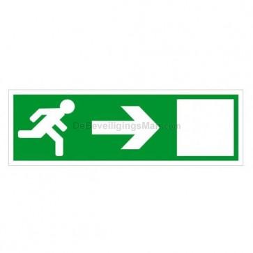 Noodverlichting pictogram symbool Pijl naar rechts A801-R
