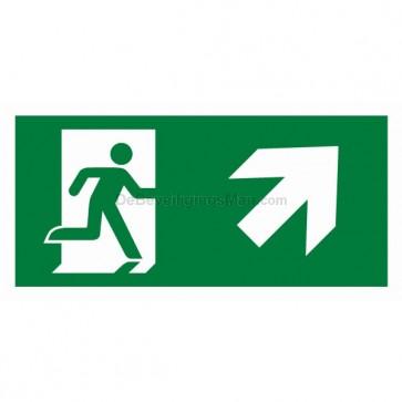 Noodverlichting pictogram symbool Pictogram schuin rechts omhoog APIC-4