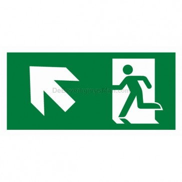 Noodverlichting pictogram symbool Pictogram schuin links omhoog APIC-7