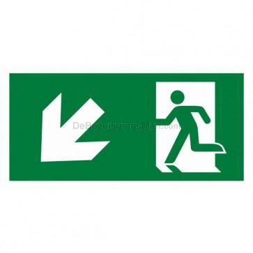 Noodverlichting pictogram symbool Pictogram schuin links omhoog beneden APIC-8
