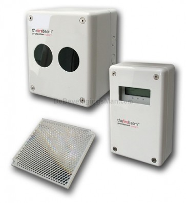 The Firebeam plus Rook detector melder voor grote ruimes tot 100Meter