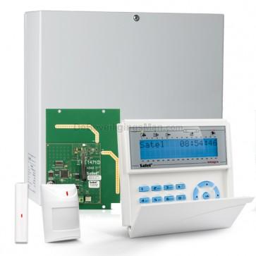 InteGra 32 RF Pack met Blauw LCD Bediendeel, RF Module, Draadloos Magneetcontact en Bewegingsmelder