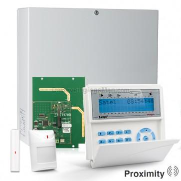 InteGra 32 RF Pack met Blauw PROX LCD Bediendeel, RF Module, Draadloos Magneetcontact en Bewegingsmelder