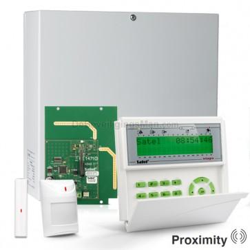 InteGra 32 RF Pack met Groen PROX LCD Bediendeel, RF Module, Draadloos Magneetcontact en Bewegingsmelder