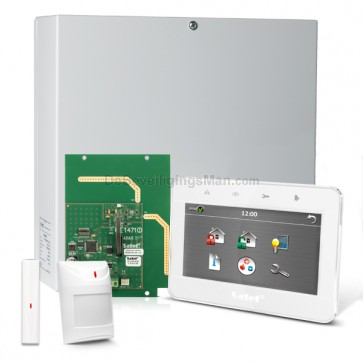 "InteGra 32 RF Pack met Wit TSG 4.3"" Touchscreen bediendeel, RF Module, Draadloos Magneetcontact en Bewegingsmelder"