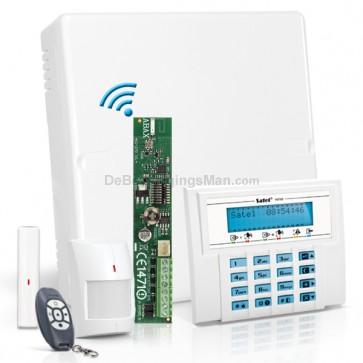 Versa 5 RF Pack met Blauw LCD, incl. RF Module, Draadloos Magneetcontact, Bewegingsmelder en Handzender