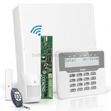 Versa 5 RF Pack met Wit LCD, incl. RF Module, Draadloos Magneetcontact, Bewegingsmelder en Handzender