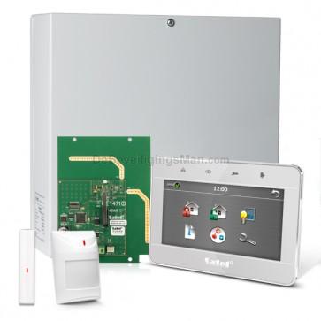 "InteGra 32 RF Pack met Zilver TSG 4.3"" Touchscreen bediendeel, RF Module, Draadloos Magneetcontact en Bewegingsmelder"