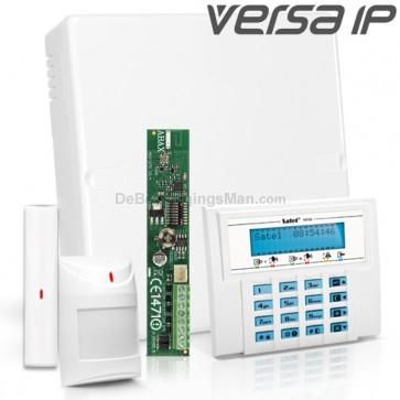 VERSA IP RF Pack met Blauw LCD, incl. RF Module, Draadloos Magneetcontact en Bewegingsmelder