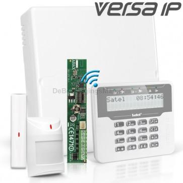 VERSA IP RF Pack met Wit Draadloos LCD, incl. RF Module, Draadloos Magneetcontact en Bewegingsmelder