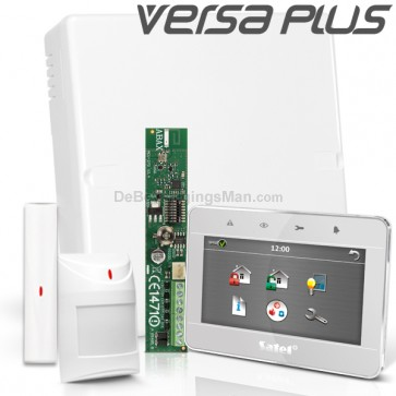 VERSA PLUS RF Pack met Zilver Touchscreen bediendeel, incl. RF Module, Draadloos Magneetcontact en Bewegingsmelder