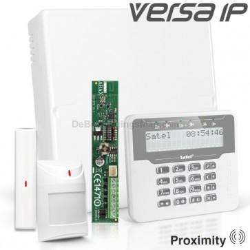 VERSA IP RF Pack met Wit Proximity LCD, incl. RF Module, Draadloos Magneetcontact en Bewegingsmelder
