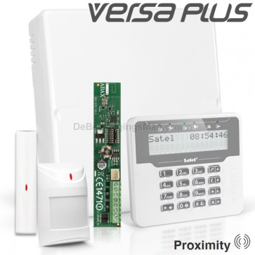 VERSA PLUS RF Pack met Wit Proximity LCD, incl. RF Module, Draadloos Magneetcontact en Bewegingsmelder