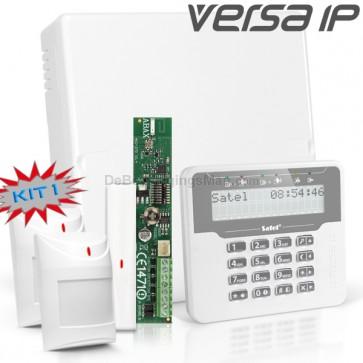 VERSA IP RF Pack met Wit LCD, incl. RF Module, Draadloos Magneetcontact en 2x Bewegingsmelder