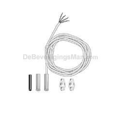 EMK46R inbouw magneetcontact met 1K Ohm weerstand en 3 meter snoer