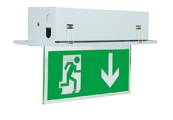 Nooduitgang verlichting Tot 25 Mtr geschikt voor inbouw 1xT5 8W TL ...