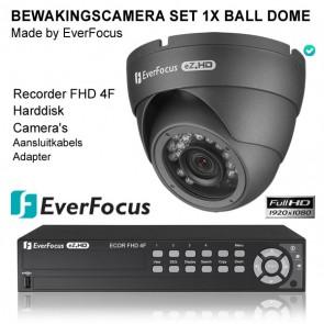 EverFocus bewakingscamera set 1x dome camera + Ecor recorder