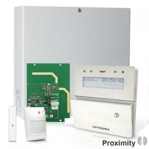 InteGra 32 RF Pack met Zilver KLFR PROX LCD Bediendeel, RF Module, Draadloos Magneetcontact en Bewegingsmelder