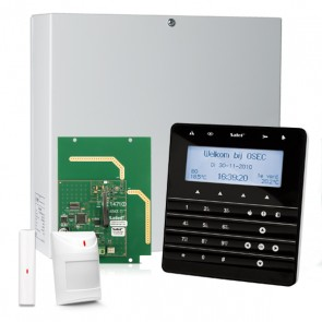 InteGra 32 RF Pack met Zwart KSG Soft Touch LCD Bediendeel, RF Module, Draadloos Magneetcontact en Bewegingsmelder