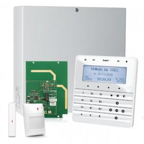 InteGra 32 RF Pack met Zilver KSG Soft Touch LCD Bediendeel, RF Module, Draadloos Magneetcontact en Bewegingsmelder