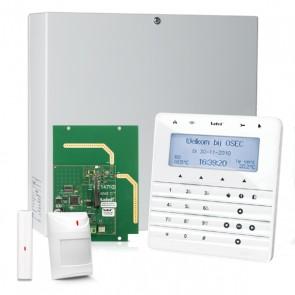 InteGra 32 RF Pack met Wit KSG Soft Touch LCD Bediendeel, RF Module, Draadloos Magneetcontact en Bewegingsmelder