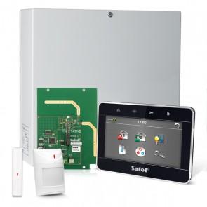 "InteGra 32 RF Pack met Zwart TSG 4.3"" Touchscreen bediendeel, RF Module, Draadloos Magneetcontact en Bewegingsmelder"