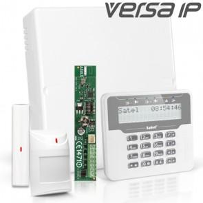 VERSA IP RF Pack met Wit LCD, incl. RF Module, Draadloos Magneetcontact en Bewegingsmelder