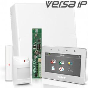 VERSA IP RF Pack met Zilver Touchscreen, incl. RF Module, Draadloos Magneetcontact en Bewegingsmelder