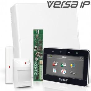 VERSA IP RF Pack met Zwart Touchscreen,  incl. RF Module, Draadloos Magneetcontact en Bewegingsmelder