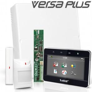VERSA PLUS RF Pack met Zwart Touchscreen bediendeel, incl. RF Module, Draadloos Magneetcontact en Bewegingsmelder