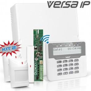 VERSA IP RF Pack met Wit Draadloos LCD, incl. RF Module, Draadloos Magneetcontact en 2x Bewegingsmelder
