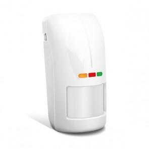 ABAX AOD-200 (wit) draadloze dual detector voor buiten met schemersensor